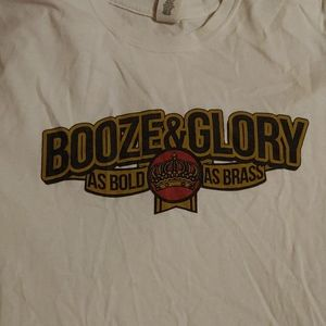 Booze and glory shirt size med